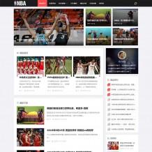 织梦模板:响应式黑色NBA体育赛事资讯网源码/新闻资讯类Dede模板