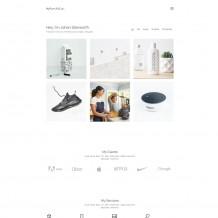 白色简约响应式设计师个人网站源码下载|portfolio设计师网站模板