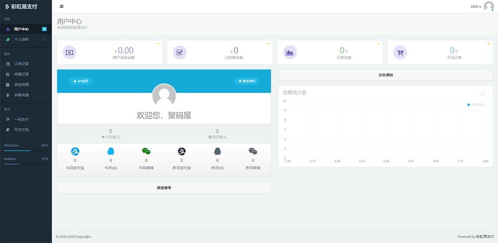 2020全新彩虹易支付源码全开源免授权 可对接多种支付接口「亲测」-图3