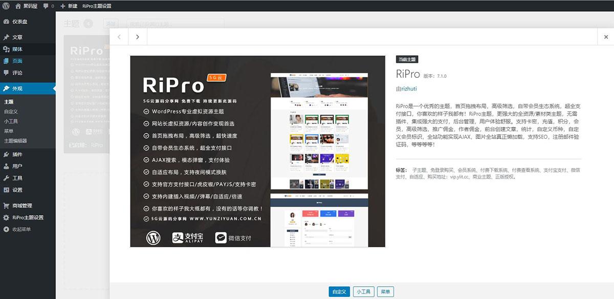 「亲测」Ripro7.1主题破解版 WordPress日主题7.1免授权开心版-图2